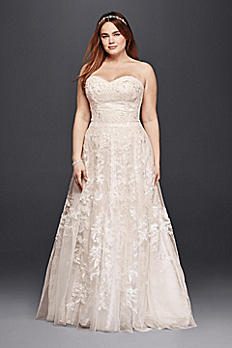 Melissa Sweet  Lace A-Line Plus Size Wedding Dress 8MS251174