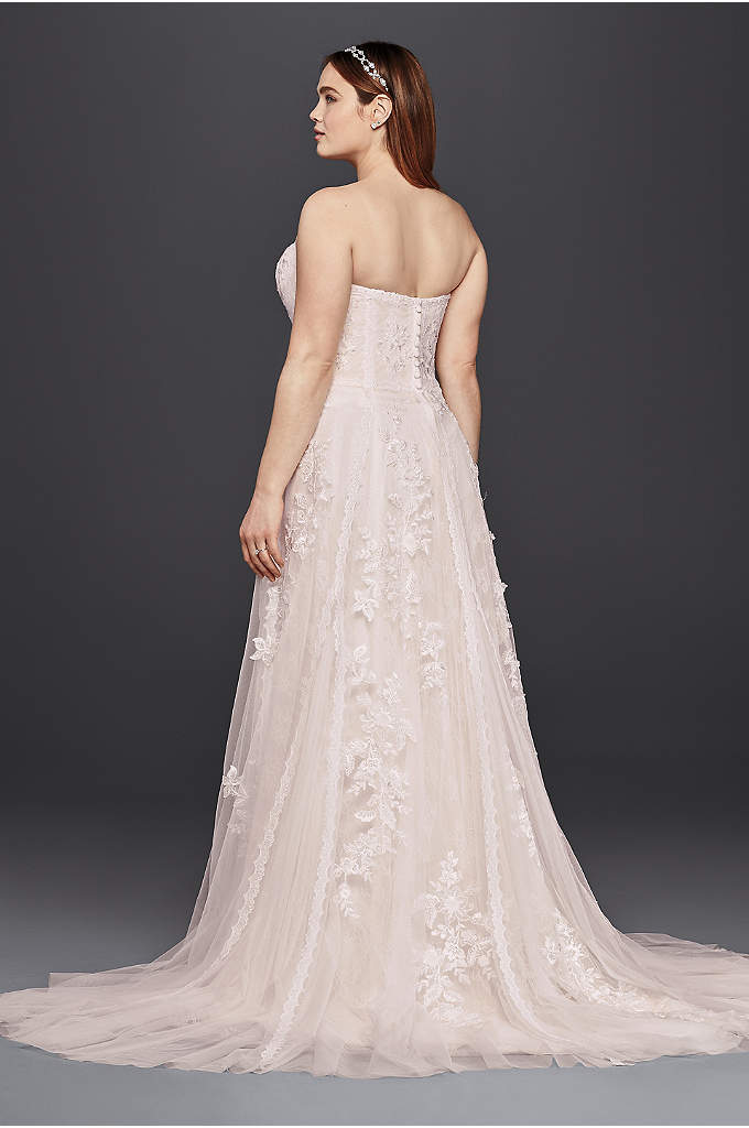 Trumpet Wedding Dress With Lace Applique Davids Bridal