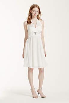 Short A-Line Halter Graduation Dress - XOXO