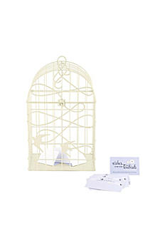 Birds In Flight Decorative Birdcage Card Holder 9117