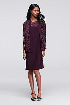 Sequin Lace Mother of the Bride Jacket Dress 9126
