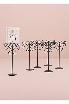 Ornamental Wire Table Card Holder Pack of 6