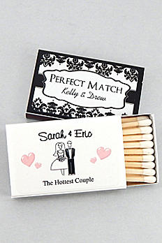 Personalized Classic Wedding Matches Set of 50 9227000