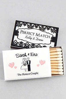 Personalized Classic Wedding Matches Set of 50