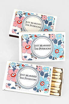 Floral Pattern Personalized Matches Set of 50