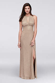 Long A-Line Halter Formal Dresses Dress - RM Richards