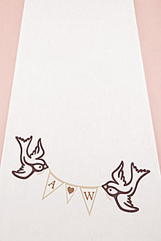 Personalized Birds With Love Pennant Aisle Runner 9299-BIRDS
