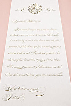 Personalized Parisian Love Letter Aisle Runner 9299-LETTER