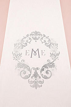 Personalized Monogram Simplicity Aisle Runner 9299-MONO