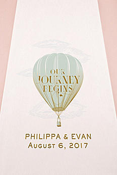 Personalized Vintage Hot Air Balloon Aisle Runner 9299-TRAVEL