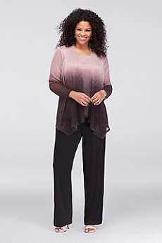 Long Jumpsuit Jacket Formal Dresses Dress - Onyx
