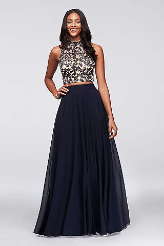 Two Piece Prom Dresses & Crop Top Prom Dresses | David's Bridal