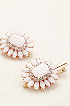 Set of Two Double Faceted Hair Clips 9644554CP