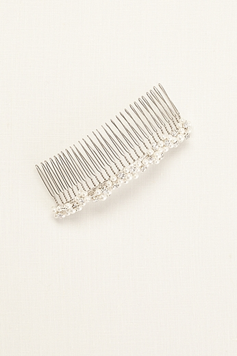 Bridal Comb with Pearl Clusters 9692