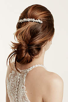 Bridal Comb with Pearl Clusters