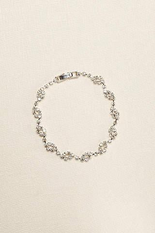 Bridal wedding bracelets bangles davids bridal crystal circle design bracelet junglespirit Choice Image