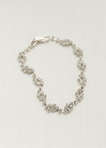 Crystal Circle Design Bracelet 9721
