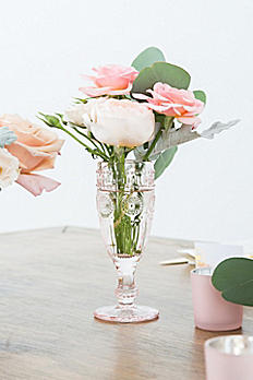 Tall Vintage Pressed Glass Goblet 9762