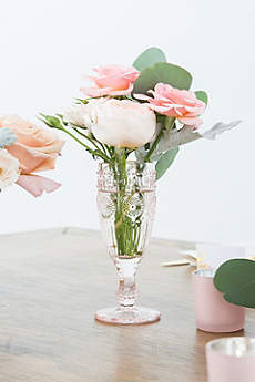 Tall Vintage Pressed Glass Goblet