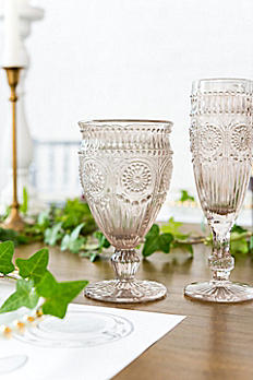 Short Vintage Pressed Glass Goblet 9763