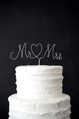 Wedding cake toppers davids bridal mr and mrs wire cake topper junglespirit Image collections