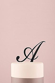 Personalized Script Monogram Acrylic Cake Topper 9854