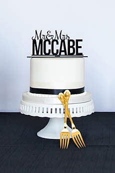 Personalized Mr. and Mrs. Acrylic Cake Topper