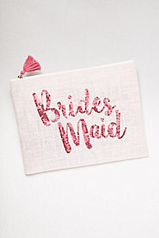 Sequined Jute Bridesmaid Clutch 9998933