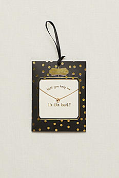 Will You Help Me Tie The Knot Necklace 9998935