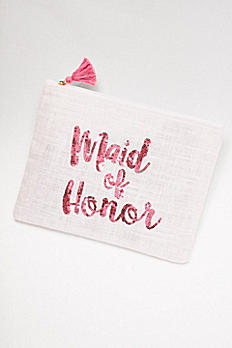 Sequined Jute Maid of Honor Clutch 9999034