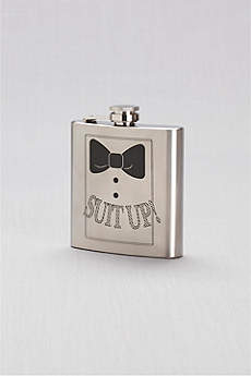 Suit Up Stainless Steel Groomsman Flask