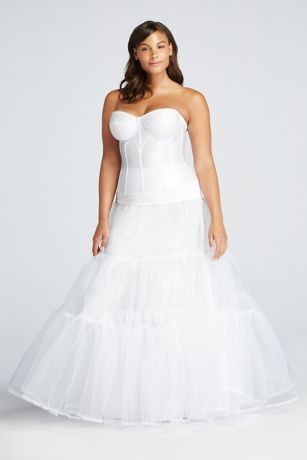Plus size ball gown silhouette slip david 39 s bridal for Plus size after wedding dress