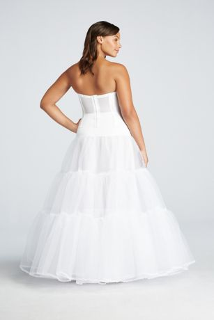 Plus size ball gown silhouette slip david 39 s bridal for Plus size shapewear for wedding dresses