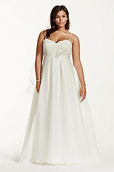 Plus Size Wedding Dress with Spaghetti Straps 9KP3694