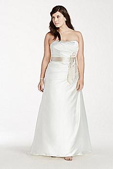 Strapless Charmeuse A-Line Plus Size Wedding Dress AI13320019