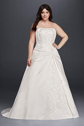 Cheap wedding dresses gowns under 100 davids bridal long a line formal wedding dress davids bridal collection junglespirit Images