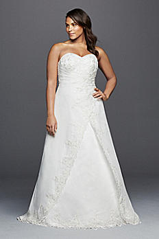 Strapless Chiffon Wedding Dress with Side Drape 9OP1268