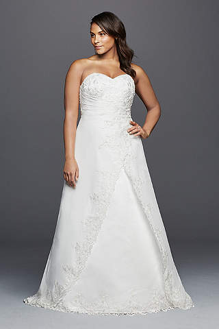 As Is Strapless Chiffon Wedding Dress With Draping