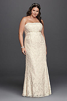 Lace Empire Waist  Plus Size Wedding Dress 9S8551