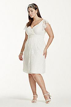 Cap Sleeve Short Lace Dress with Embellished Waist 9SDWG0134