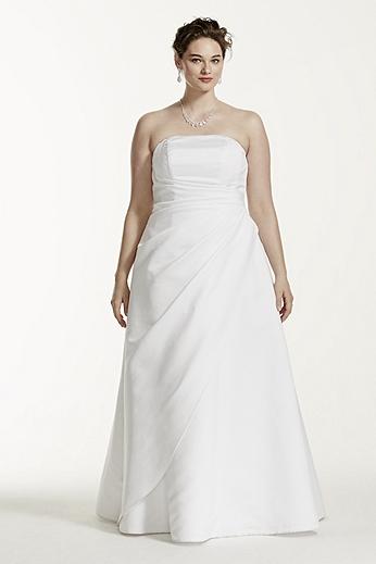 Satin A-line with Asymmetrical Skirt 9T8076
