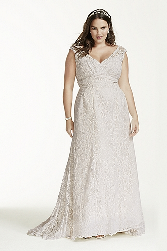 All Over Beaded Lace Trumpet Gown 9T9612