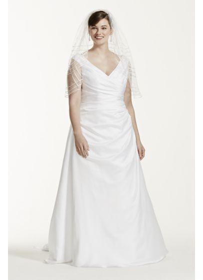 Long A Line Simple Wedding Dress   David s Bridal CollectionOff the Shoulder V Neck Plus Size Wedding Dress   David s Bridal. Off The Shoulders Wedding Dress. Home Design Ideas