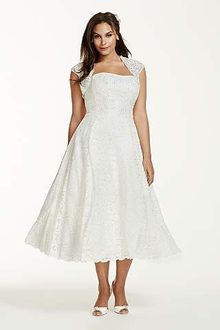 Short &amp- Tea Length Wedding Dresses - David&-39-s Bridal
