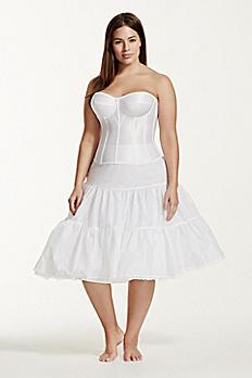 Tea Length Plus Size Bridal Slip 9TLSLIP