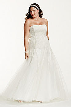 Strapless Tulle Wedding Gown with Beaded Appliques AI13012491
