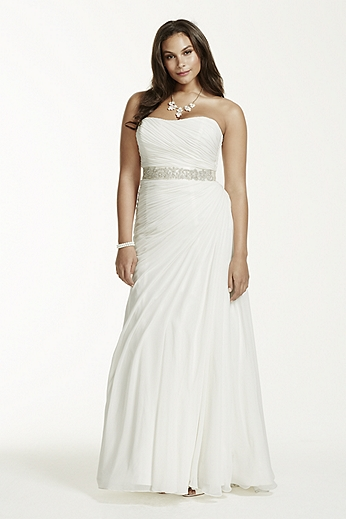 Plus size wedding dresses david 39 s bridal for Davids bridal beach wedding dresses