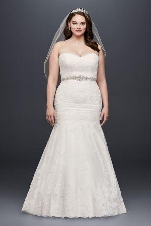 Long Mermaid/ Trumpet Formal Wedding Dress   Davidu0027s Bridal Collection