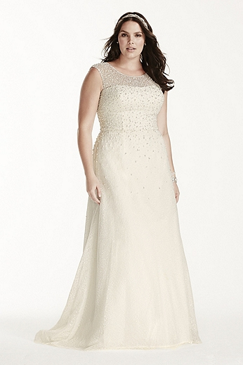 Cap Sleeve Sheath with Scattered Pearls 9V3763