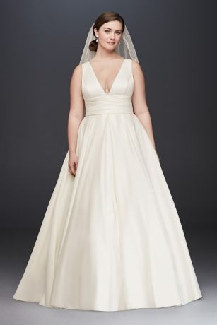 Plus size bride dresses